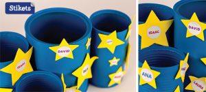 Porta lápis com latas decoradas