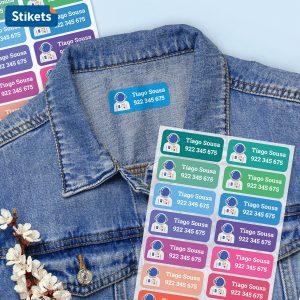 Etiquetas para roupa
