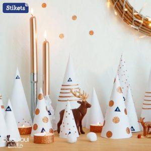 Decora a tua casa com pequenas árvoles de natal