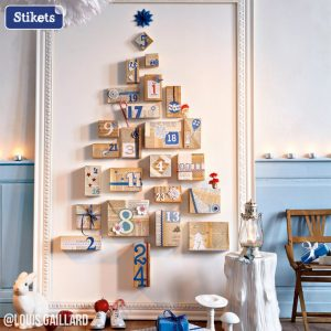 Un árvore de natal improvisada
