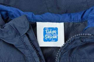 Etiquetas para roupa autocolantes removíveis