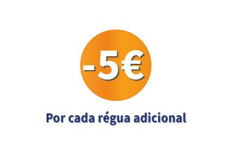 Desconto de 5 € por cada régua adicional