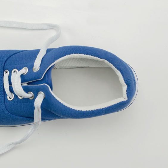 Etiquetas de pegadas para sapatos