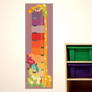 Régua de crescimento girafa de cores