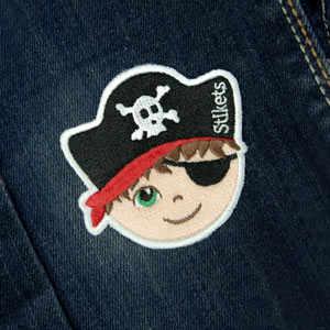 Remendo bordado Pirata menino