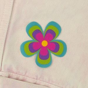 Remendo flor para roupa