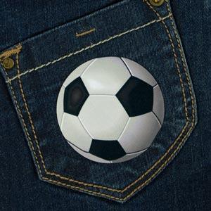 Remendo bola de futebol para roupa