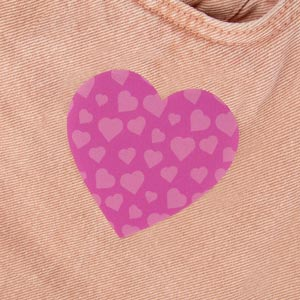 Remendo coração para roupa