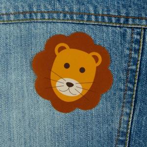 Remendo leão para roupa