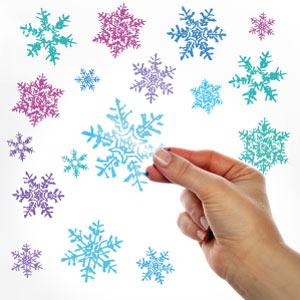 Autocolantes flocos de neve