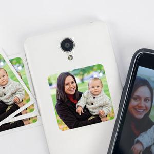 Autocolante com foto para telemóvel (8 uds)