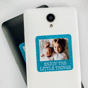 Autocolante com foto e moldura para telemóvel (8-16 uds)