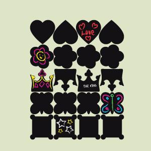 Etiquetas de ardósia coleção princesa