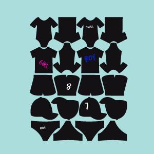Etiquetas de ardósia coleção vestidos